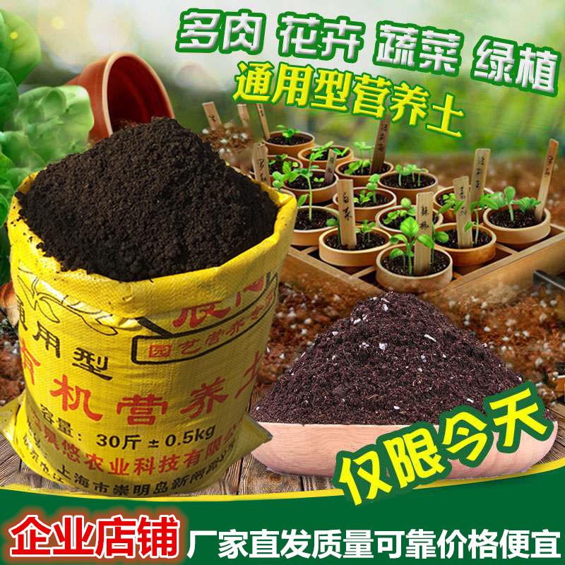 花卉绿植种植营养土有机种菜土壤多肉绿萝草炭土通用型花土泥炭土