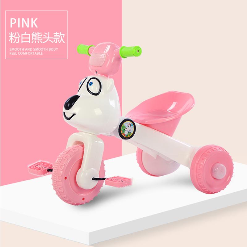 儿童三轮车脚踏车1-3周岁宝宝折叠小车子婴幼儿单车轻便脚蹬童车