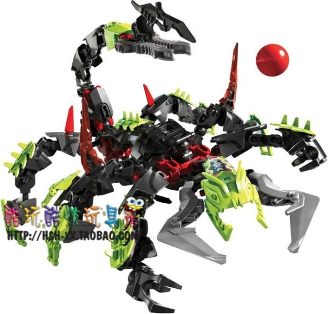 兼容�犯哂⑿酃�S2236巨蝎怪DECOOL拼�b�e木玩具天蝎怪骷�t蝎子