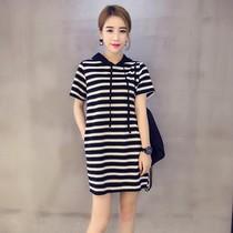 2019新款夏装韩版女装20岁大码30宽松40上衣25学生裙子35长袖T恤