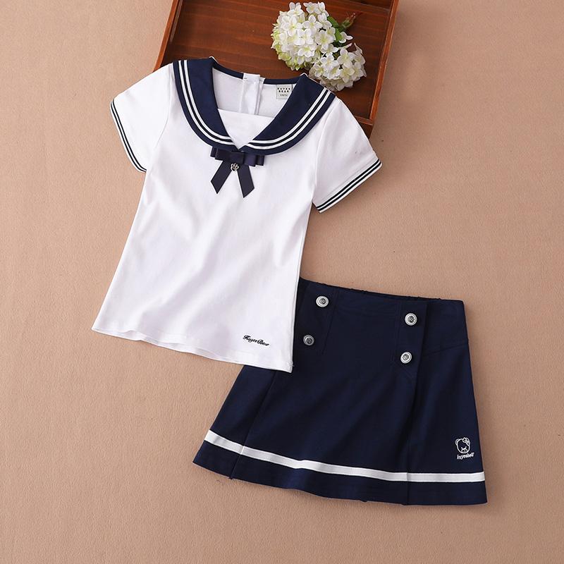 套装连衣裙2019韩版宝宝夏装裙子英伦海军学院风女童超洋气两件套券后149.00元