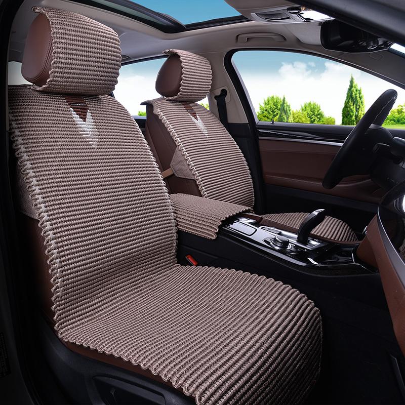 夏季新款冰丝汽车坐垫奔驰GLK300 GLC C级E级E260 E200 E300L凉垫