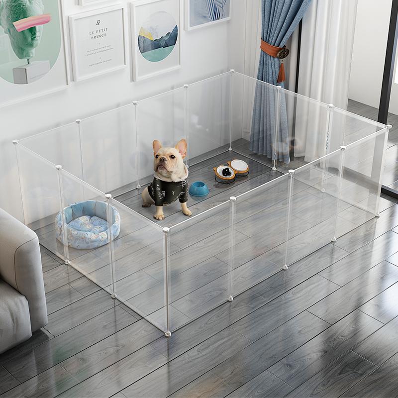 狗狗围栏宠物室内带厕所狗猫笼子隔离门护栏自由组合中小型犬栅栏图片