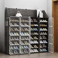 简易门口透明鞋盒20个装aj鞋柜家用抽屉式省空间放鞋架子收纳神器