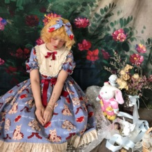 【四月底到货】原创正品 *心愿猫* Lolita 猫柄连衣裙OP