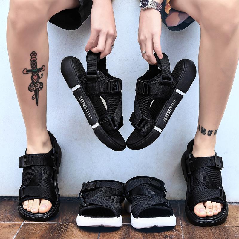 新款拖鞋凉鞋两穿魔术贴轻质底罗马沙滩男鞋XZ1208-1-W926-P26