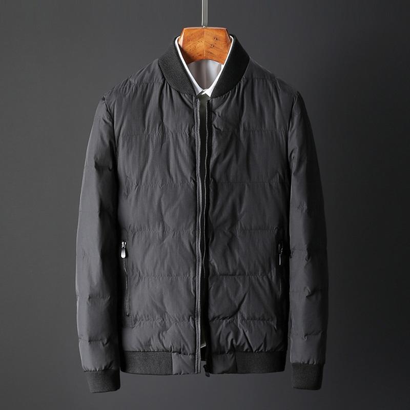 诗森堡外套冬季潮流男装棉袄修身短款棉服黑色加厚棉衣