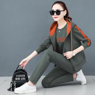 运动套装女装宽松2020春秋季新款韩版休闲服学生时尚卫衣三件套潮