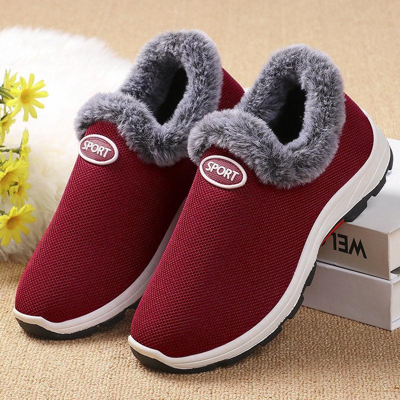 2020冬季老北京布鞋女棉鞋中老年加绒加厚运动鞋防滑保暖妈妈棉鞋