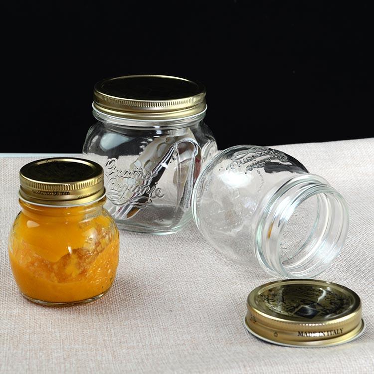 意大利进口无铅玻璃密封罐家用小号蜂蜜果酱瓶耐高温燕窝分装瓶