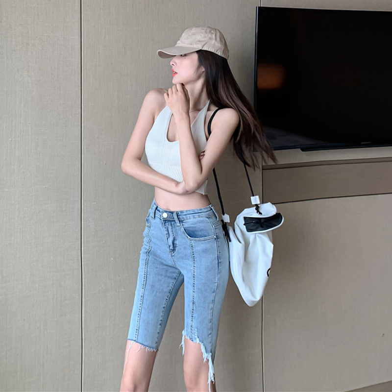 Pants womens summer 2020 new high waisted skinny jeans in Korean style all over the world