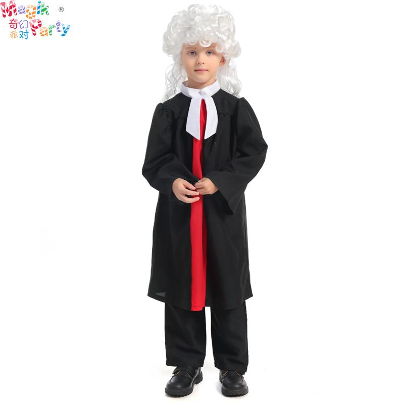 节日演出服儿童制服职业装角色扮演Cosplay表演服男童律师装服饰