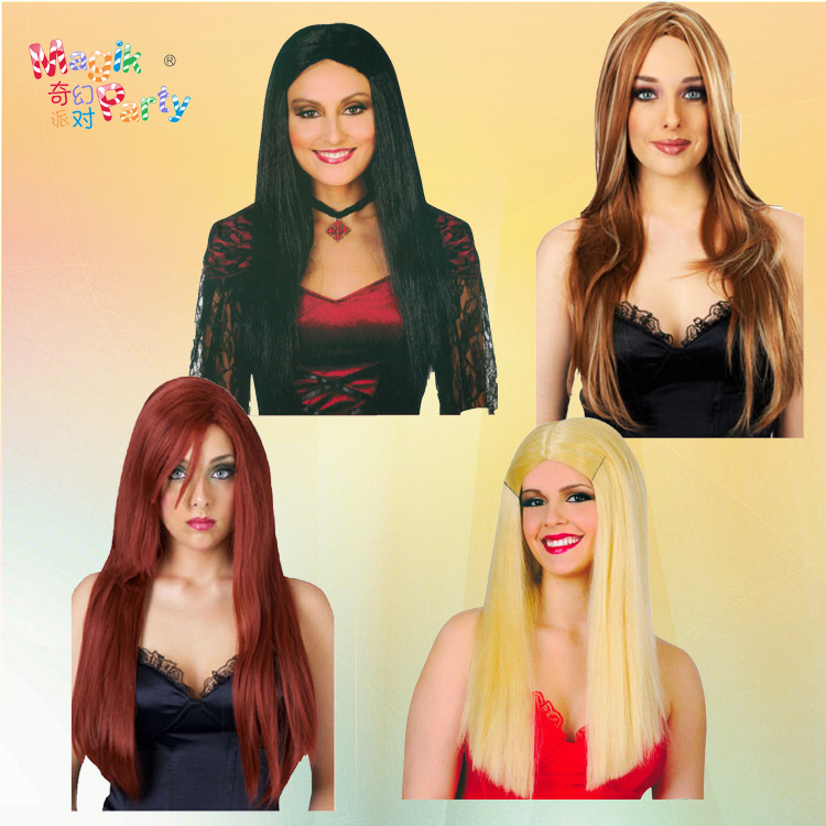 Cosplay color cartoon wig with European and American style