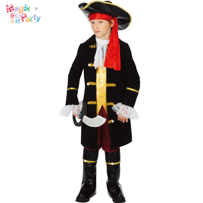 Childrens costume Cosplay boys and girls Pirates of the Caribbean Captain Jack Costume