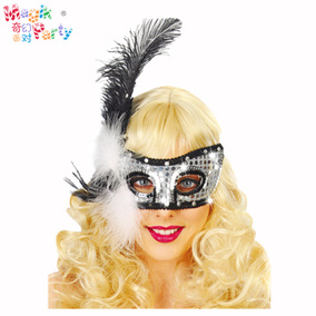万圣节女化妆派对成人公主舞会面具