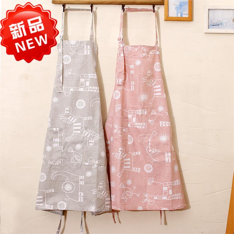 奶茶店韩式个性围裙半截潮洗碗餐厅舒适简约清洁家居布艺服务员