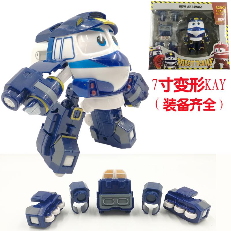 爆款变形火车7寸维多克迷你机器人玩具五只装train动感火车侠家族