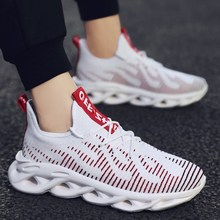 2019 men's fashion fly mesh shoes sports style casual shoes male
