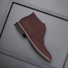 Male pointed casual leather boots 大码马丁靴男鞋