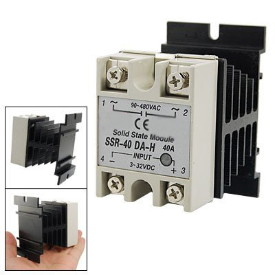 5x DC to AC Single Phase Solid State Relay SSR-40DA 40A 90-4,可领取元淘宝优惠券