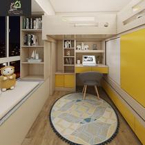 香港全屋定制踏踏米床榻榻米臥室組合床整體帶書桌衣柜一體地臺床