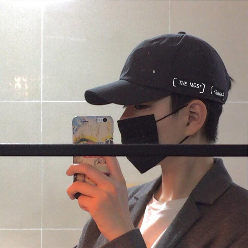 【顺丰包邮】黑色帽子男潮牌鸭舌帽女韩版百搭休闲男士ins棒球帽