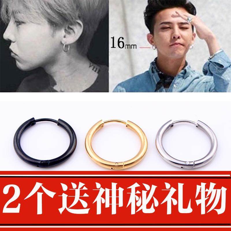 Autumn womens retro style womens Korean single ring gold jewelry earrings European mens Japanese womens