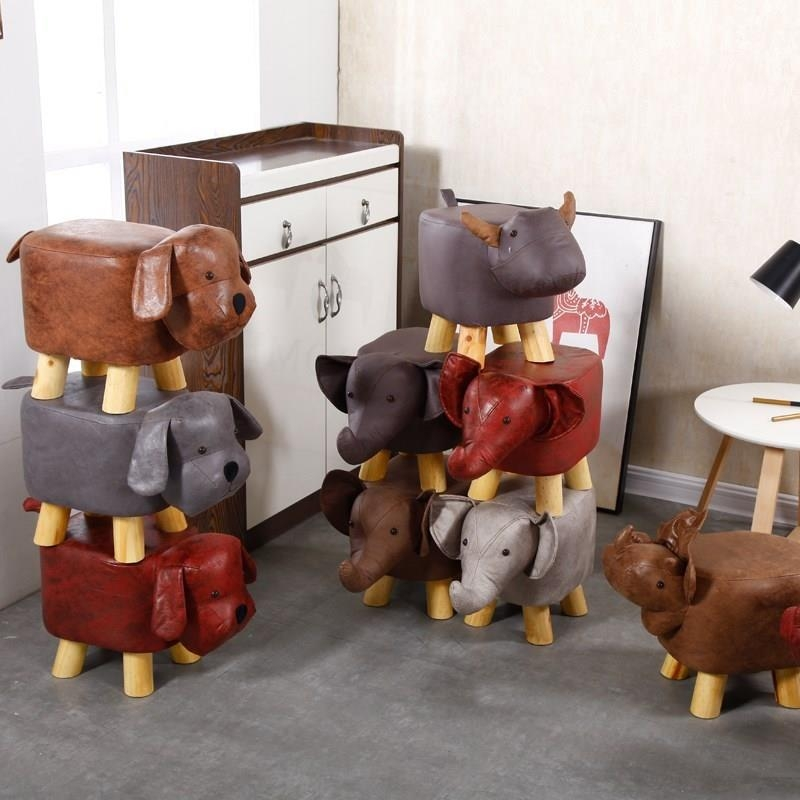 Personalized pier toy creative animal modeling stool cow child small chair chair Dunzi boy girl