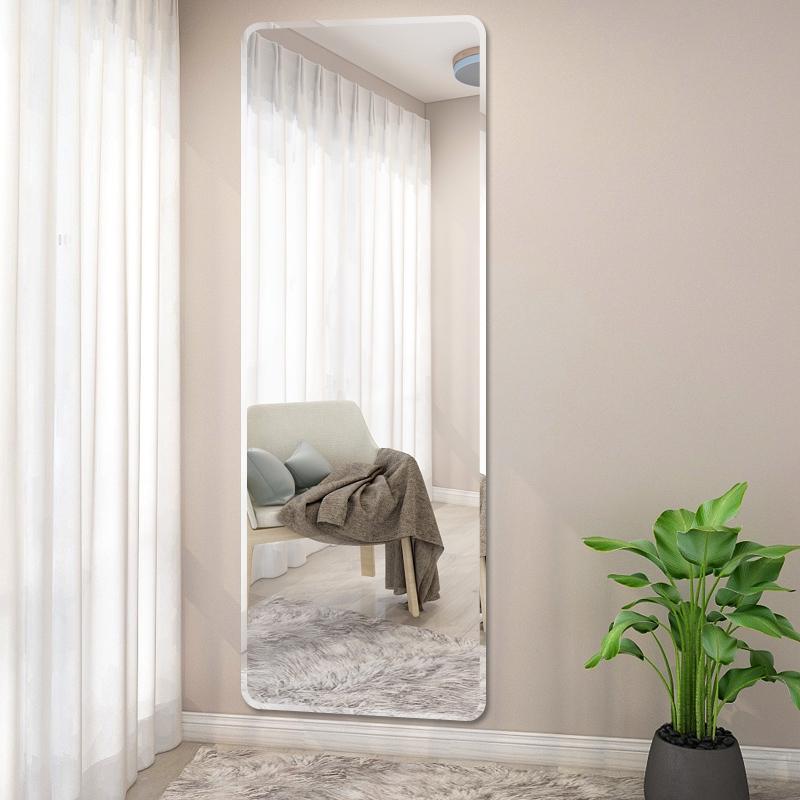 镜子全身穿衣镜壁挂粘贴全身镜女镜子贴墙自粘家用试衣镜落地镜