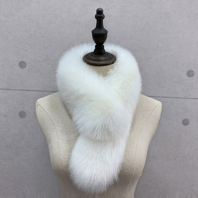 New winter fur like scarf fox hair versatile solid color hair collar womens warm thickened scarf fake collar