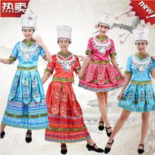 Miao and Miao dancing costumes, Yi, Zhuang, Yao, Dong and Tujia minority stage costumes