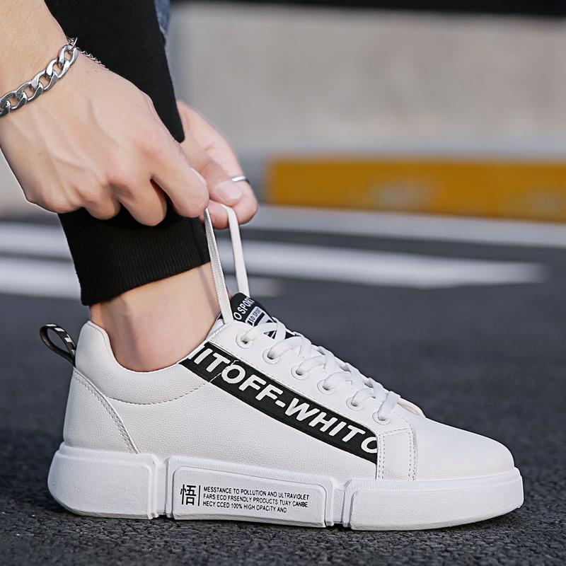 冬季男鞋子男士小白鞋2018新款韩版潮流百搭休闲板鞋加绒白鞋潮鞋