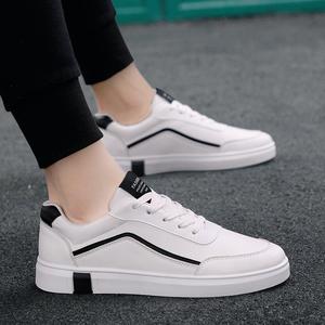 2021春夏季新款帆布韩版潮流男鞋子百搭休闲男士平板鞋小白鞋潮鞋