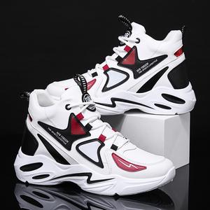 2020新款男鞋韩版潮鞋透气运动鞋休闲老爹鞋子男士冬季潮流高帮鞋
