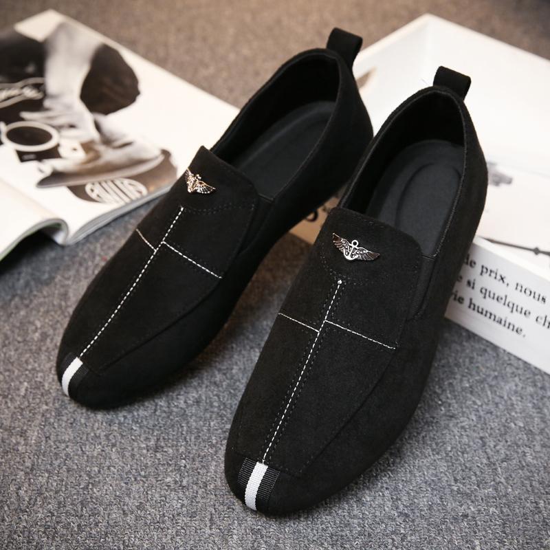 豆豆鞋男夏季男士加绒保暖百搭潮鞋社会一脚蹬懒人休闲老北京布鞋图片