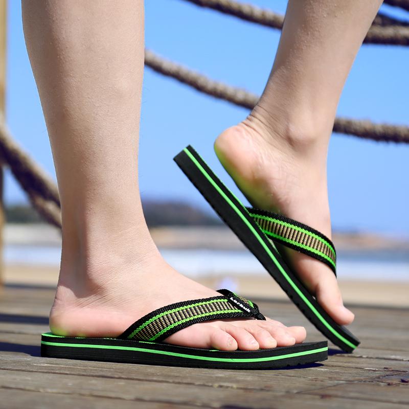 乐睦夏季新品韩版男士防滑人字拖鞋潮拖室外休闲沙滩夹脚凉拖鞋男