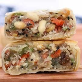 1斤6个苏式酥皮五仁月饼老式手工中秋老月饼散装多口味传统糕点图片