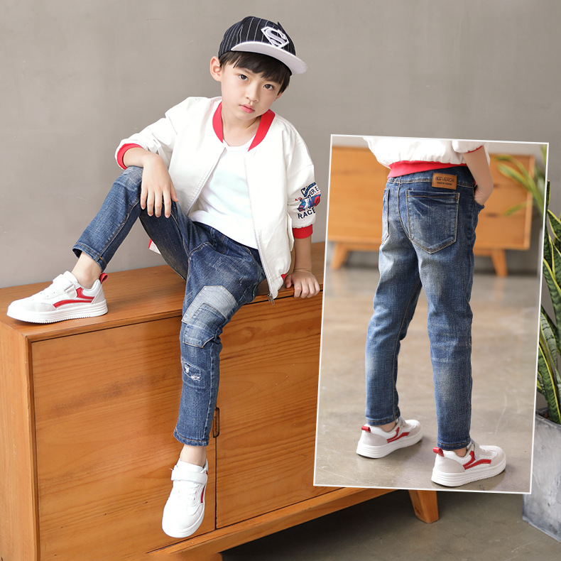 6 kids winter pants 7 boys slim pants 8 years old boys Plush 9 thin spring clothes 12 jeans 10 fashions