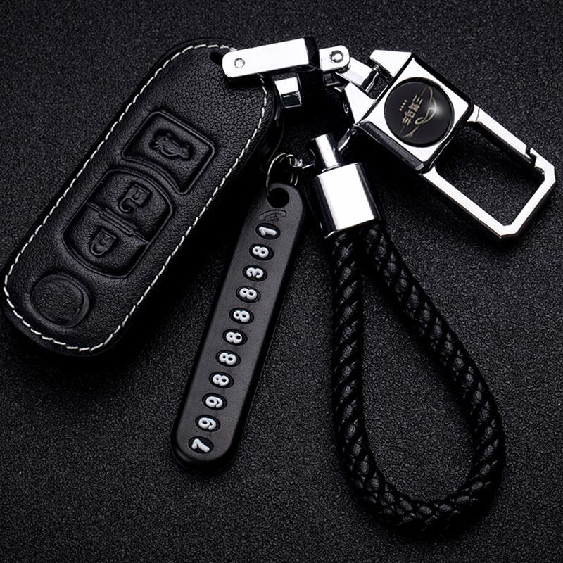 马自达昂克赛拉钥匙套2018款CX-5-4阿特兹马6/3/17汽车真皮钥匙包
