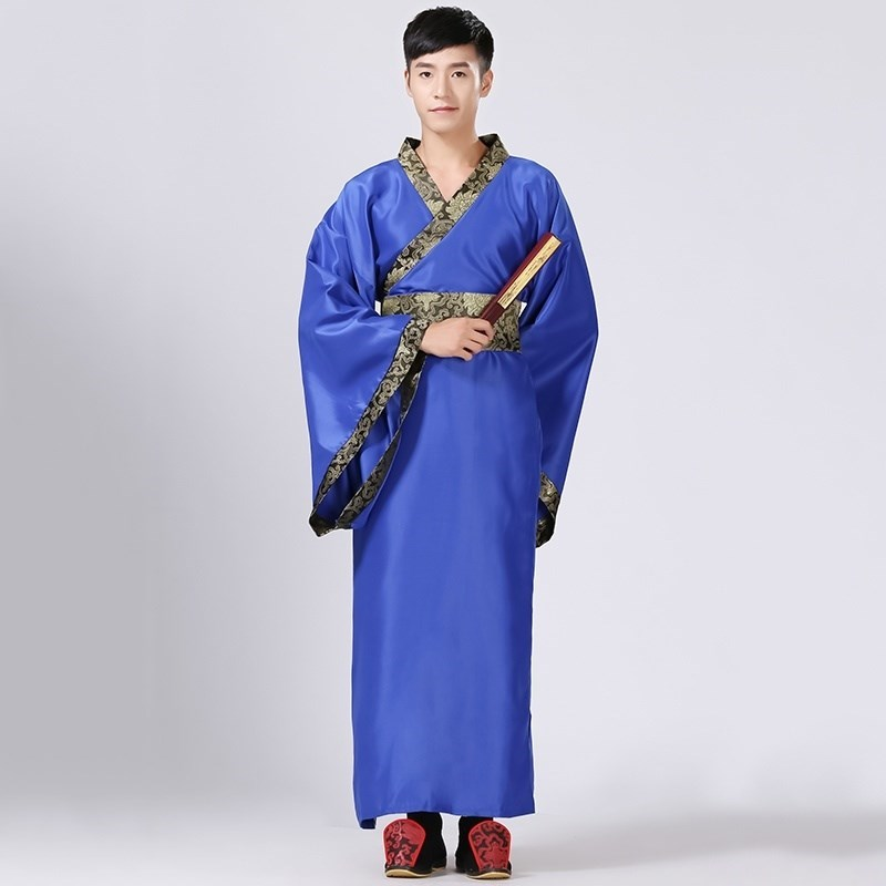Costume junior high school student male adult stage performance costume Tang suit competition high school book boy ancient poem