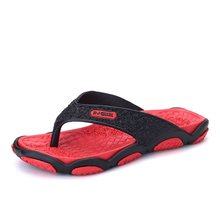 Flip flop men's black summer casual sandals men's beach slippers fashion wear household non slip splint cutting shoes