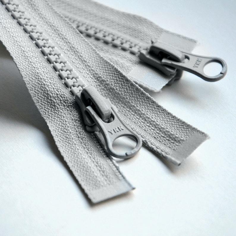76-79cm black army green YKK zipper No. 5 resin zipper double ended double open down jacket 90cm batch