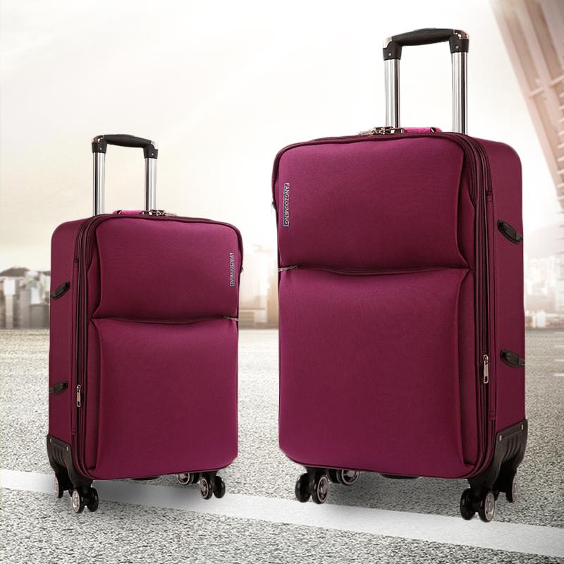 箱子行李箱拉杆箱女韩版学生26寸大容量旅行牛津布密码箱万向轮热销0件假一赔三