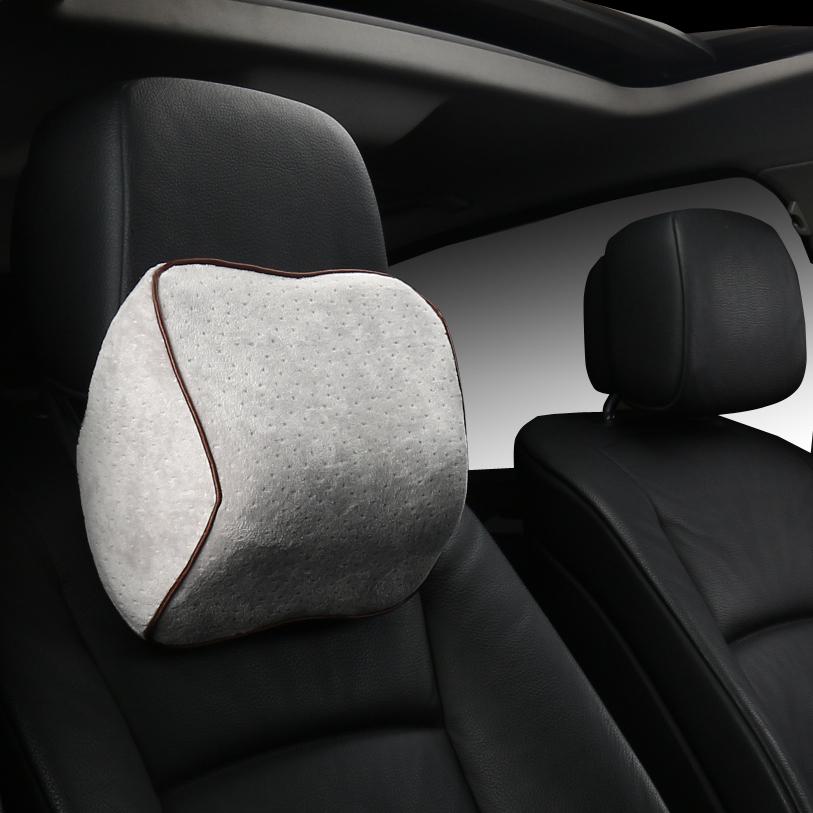 汽車頭枕座椅頸枕靠枕脖子頸椎護頸枕 小枕頭腰枕車載車用記憶棉