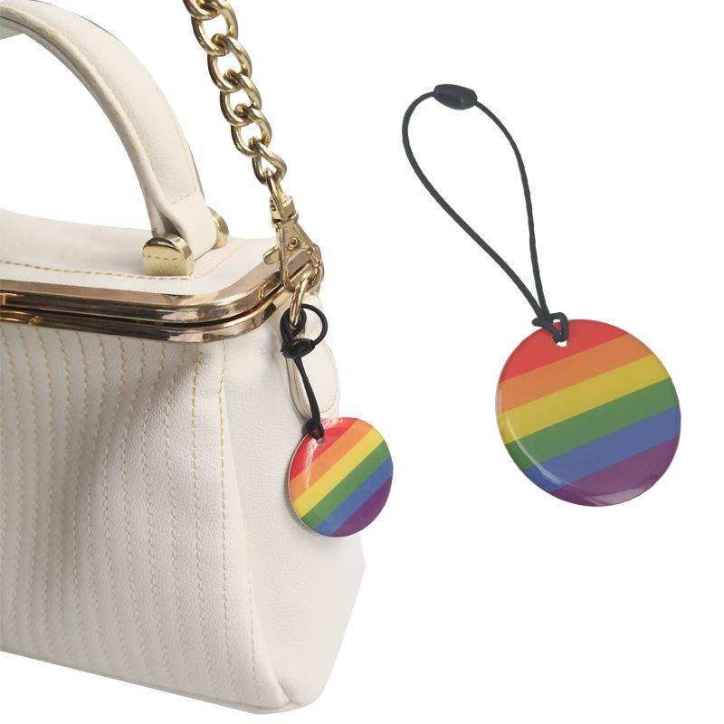 Original bag pendant tag rainbow jewelry LGBT Keychain medal Brooch