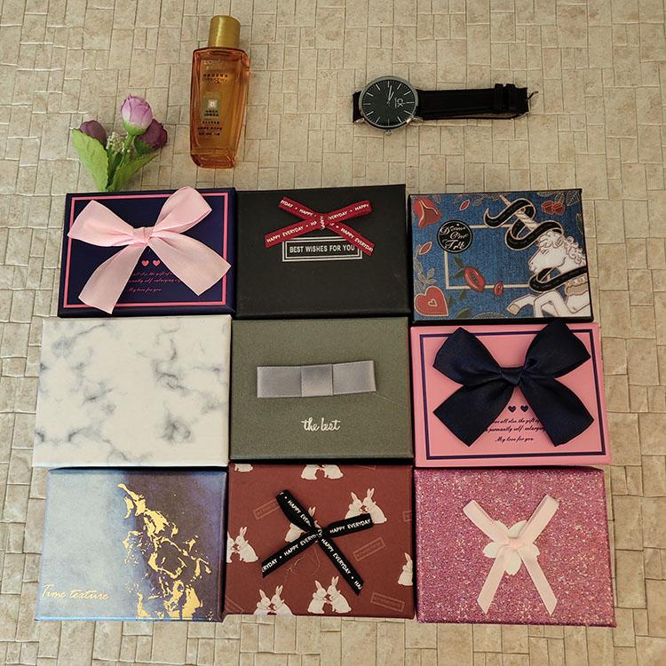 小礼盒包装盒小号简约创意ins风口红礼品盒子精美韩版生日礼物