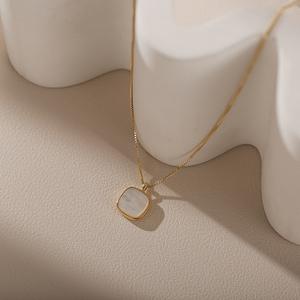 领10元券购买法式高级感小众品牌贝母女锁骨链