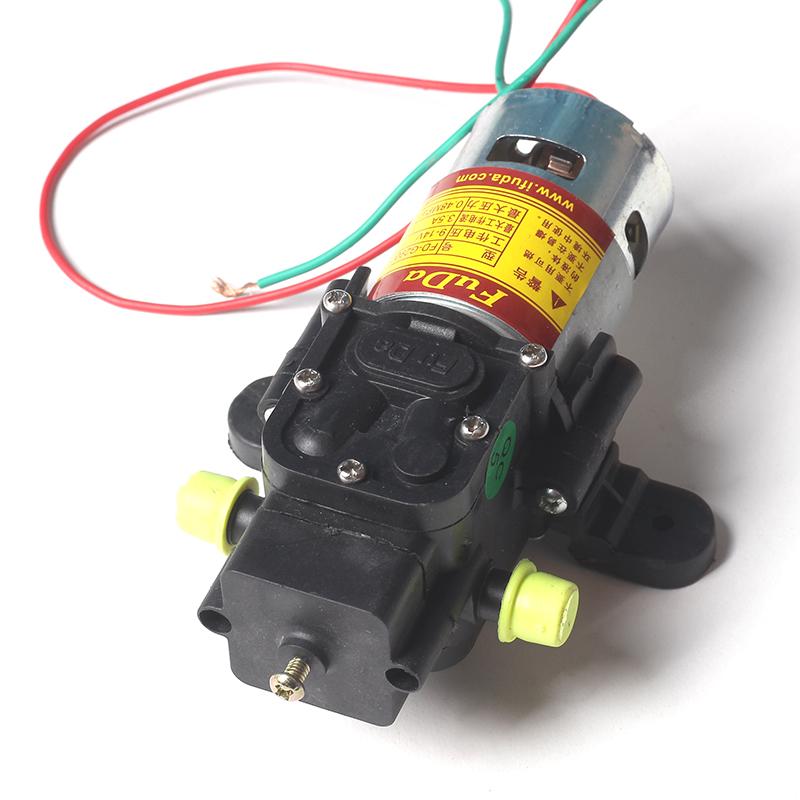 12V伏农用电动喷雾器水泵隔膜微型高压自吸洗车水钻打药机泵配件