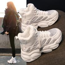 V7G1DDD0冬新商场同款休闲复古瘦瘦皮靴加绒2020百丽粗跟短靴女