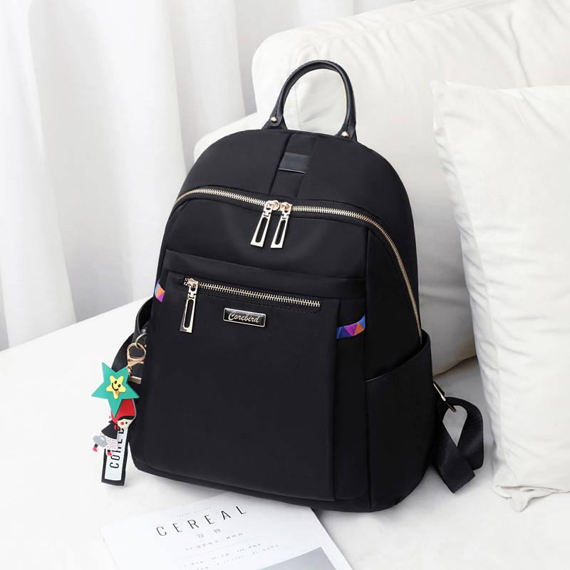 牛津布双肩包女2020新款韩版时尚百搭学生书包休闲旅行帆布小背包